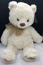 "Aurora Creamy White Soft & Cuddly 18"" Teddy Bear ""Belle"" New"