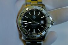 Tag Heuer Aquaracer WAP2010 Black Swiss Automatic Dive Watch w/Kit