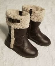 Old Navy Todddler Girls Boot Faux Leather Sperpa Size 8