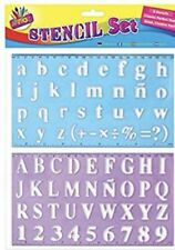 Alphabet Stencil Set - 2 Stencils Upper And Lower Case - With Numbers And Rulers