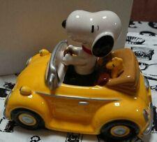 Peanuts Snoopy Woodstock Ceramic Figurine Piggy Bank Kato Kogei Japan Limited