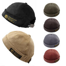 03ebf79c87e Mens Corduroy Adjustable French Brimless Hat Vogue Retro Skullcap Sailor Cap