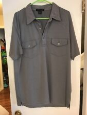 Kenneth Cole Gray Classic Short Sleeve 2 Pocket Casual Polo Shirt XL