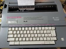 Smith Corona Sl480 5a Electric Portable Typewriter With Case Amp Correct Works