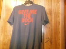 Pre-Owned Mens Nike Dri Fit Give Me The Rock Tshirt-Gray-Size M