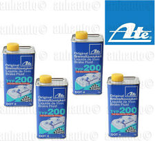 Set of 4      ATE DOT 4 TYP 200 –  Brake Fluid   (High Boiling Point)
