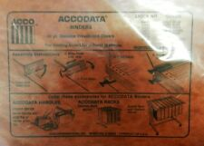 New listing 2 Acco Accodata Binders Covers Press Board Covers Hanging File Red 53078