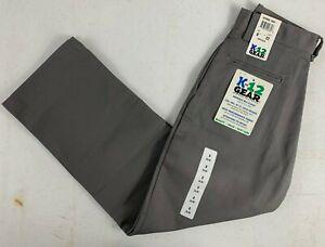 K12 Gear Boys School Uniform Pants Gray NWT 6546BS Size 8 or 12 UNI02