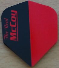 """10 Sets (10X3) McCoy """"Black+Red"""" Ruthless Extra Strong Dart Flights"""