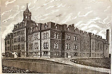 Brooklyn Institution ST. JOHN'S MALE ORPHAN ASYLUM 1884 Antique Print Matted