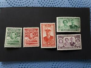 Basutoland small set of GVI stamps
