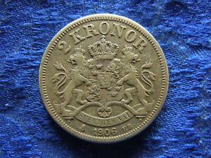SWEDEN 2 KRONOR 1906, KM773