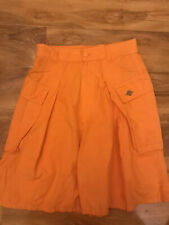 "Benetton Mens Orange Burmuda Shorts  W28"" L"