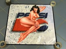 PEPSI thick canvas banner store display poster girl vintage sign advertising
