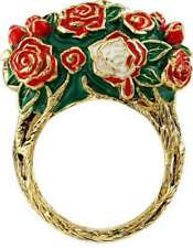 Rocklove Disney Alice In Wonderland Painting the Roses Gold-Plated Brass Ring