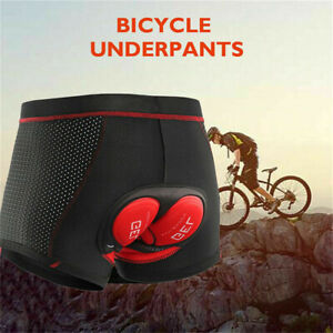 Radunterhose Herren Fahrradhose 5D Gel Sitzpolster Kurze Hosen Radhose Shorts