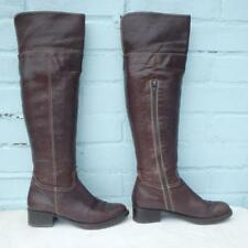 Bertie Leather Boots Size Uk 3 Eur 36 Womens Ladies Sexy Pull on Brown Boots