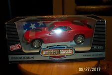 1:18 Die Cast Ertl 1970 FORD MUSTANG BOSS 429 CALYPSO CORAL  #7485 MINT IN BOX