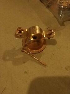 """25 Copper Plated Pipe Van Hanger Bell 3//8"""" Plumbing New W// Screws"""