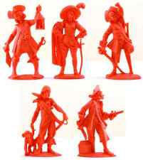 Fontanini Pirates - 10 70mm plastic figures - 2 of each pose - red rose color