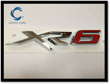 """Genuine Ford Falcon FGX """"XR6"""" Badge. Front Grille. Silver / Red. AU/BA/BF."""