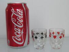 NEW 2 POKER CARD PLAYER THEME SHOT GLASSES/DRINKS