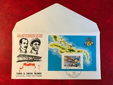 TURKS & CAICOS 1978 FDC WRIGHT BROTHERS GLIDER AVIATION MINISHEET