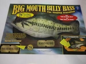 """1999 Billy Big Mouth Bass Singing Dont Worry Be Happy 28"""" Lunker NIB Gag Gift"""