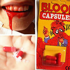 2Set Funny Blood Pill Trick Toys Whimsy Prop Vomiting Blood Capsule Joke Toys EP