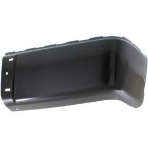 For Sierra 2500 HD 07-13, Rear, Passenger Side Bumper End, Painted Black, Steel