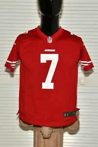 NIKE Youth Red Jersey #7 Colin Kaepernick San Francisco 49ers Size 10-12
