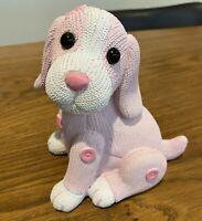 Brand New Ceramic GORGEOUS Pink PUPPY DOG Money Box Bank