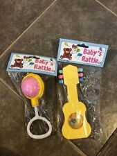 Vintage Baby Rattles Guitar In Packages 2 Included
