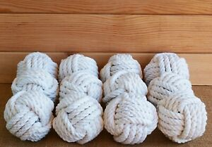 Set of 10 Nautical Rope Knots medium size monkey fists- home decor-rustic weddin