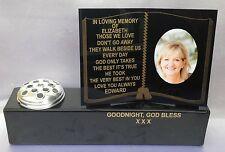 Personalised Grave Marker Memorial Pot Flower Vase Photo Wording Loving Memory