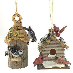Cardinal Woodpecker Birdhouse Thomas Kinkade Bradford Exchange Ornament S731