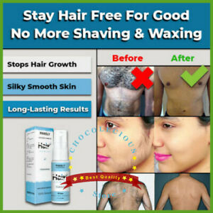 Best 100% NATURAL PERMANENT HAIR REMOVAL SPRAY INHIBITOR-STOP-GROWTH PAINLESS*