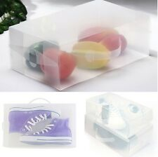 New Clear Plastic Men's Shoe Box Storage Transparant