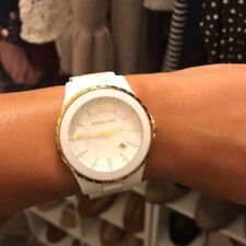 Michael Kors White Ceramic Watch with gold details