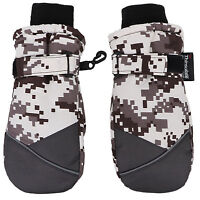Kids Winter Camouflage 3M Thinsulate Water Resistant Snow Mittens Ski Gloves