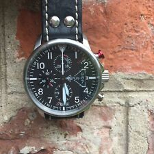JUNKERS Watch Eurofighter 6826-5 Chronograph ETA Automatic + 2 Leather Strap