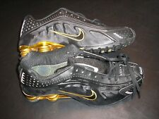 Nike Shox Running Shoes  Black with Gold Columns & Top Plate