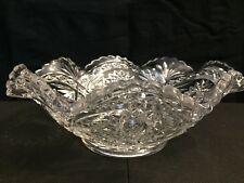 Press Cut Ribbon & Hobstar Round w/Fluted Edges Salad/Serving Bowl Beautiful