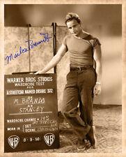 MARLON BRANDO Streetcar Wardrobe Test 1950 Photograph Autograph 8x10 RP