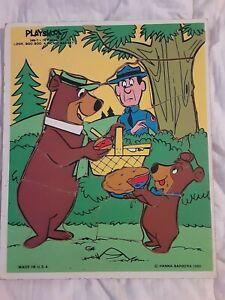 Playskool 1980 Yogi Bear Look Boo Boo 16PC 340-7 Hanna Barbera Tray Puzzle USED
