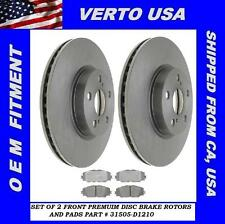 Front Brake Rotors & Pads Fit Toyota Corolla , Matrix 2009-2010-2011-2012-2013