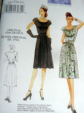 1940s VOGUE VINTAGE MODEL DRESS SEWING PATTERN 16-18-20-22 UNCUT