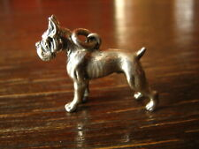 starker Anhänger große Deutsche Dogge Hund 925er Silber vollplastisch massiv