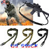 Rifle Tactical Hunting Outdoor CS Sling Shoulder Strap With Buckle Gun Belt US
