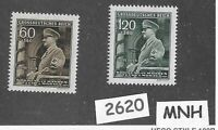 #2620    MNH Stamp set / Adolph Hitler Birthday / 1944  WWII Occupation / BaM